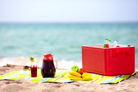 picnic on the beach photo