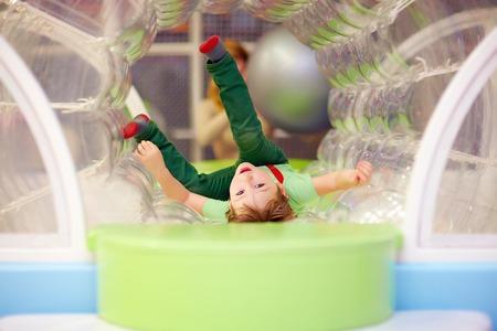 excited kid having fun on playground