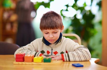 développement cognitif des enfants handicapés Banque d'images