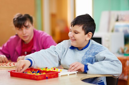 cognitive development of kids with disabilities Stock Photo - 29156749