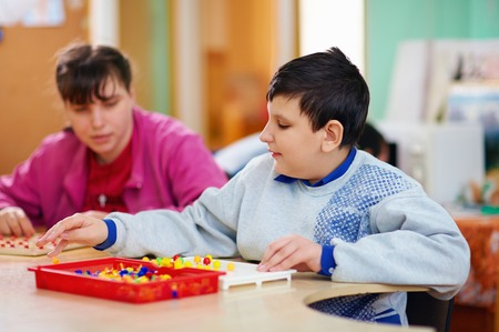 cognitive development of kids with disabilities Stock Photo - 29156750