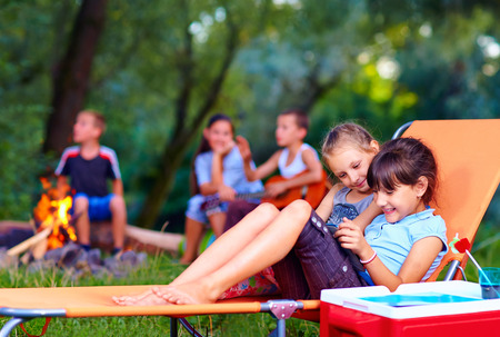 summer fun: kids having fun in summer camp