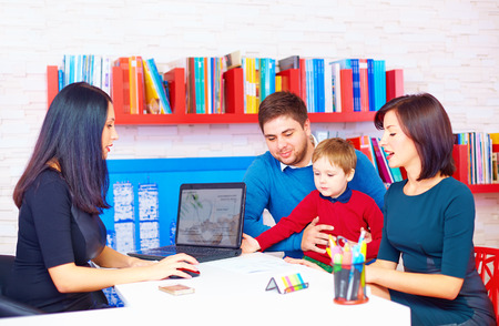 family in office, at the professional Stock Photo