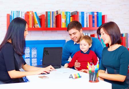 familie in het kantoor, op de professionele