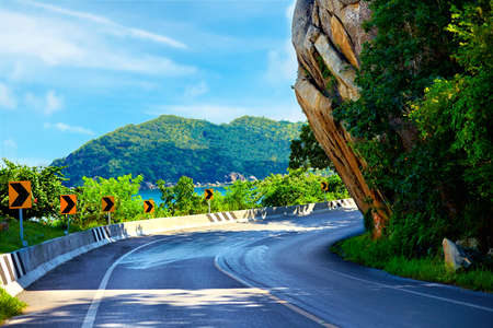 local landmark: The Big Rock road at Hua Thanon, Samui Island, Thailand, local landmark