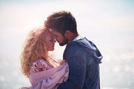 tender couple in love together Stock Photo