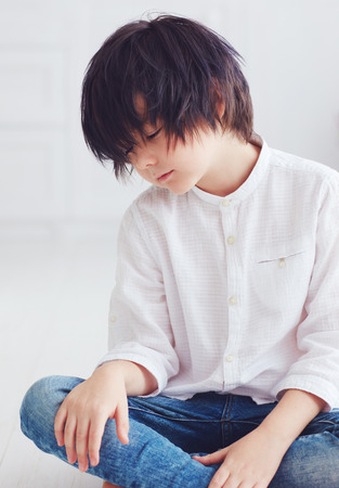 portrait of young calm boy Stok Fotoğraf