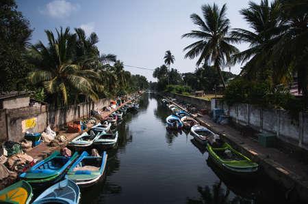 Dutch Channel in Negombo in Sri Lanka. Hamilton canal