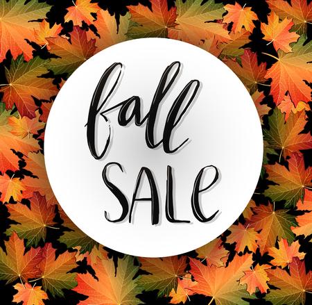 Autumn SALE poster design Vector illustration.  イラスト・ベクター素材