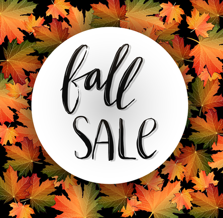 Autumn SALE poster design Vector illustration. 向量圖像
