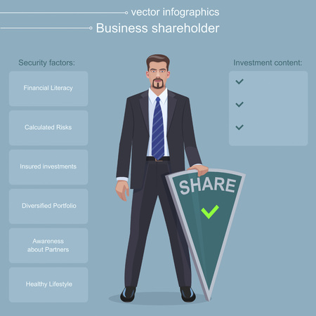 shareholder: Business Shareholder infographics Illustration