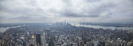 Panoramic view of New York city from Empire State building