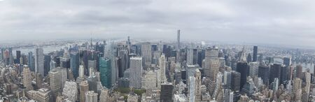 Panoramic view of New York city from Empire State building Publikacyjne