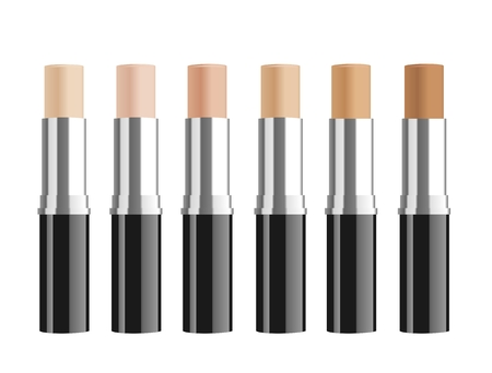 corrective: Set of cosmetic corrective concealers. Vector illustration Illustration