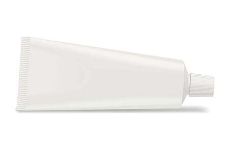 Toothpaste or cream tube isolated on white background.Blank space for your design.