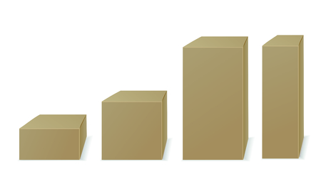 Four paper packaging. Vector