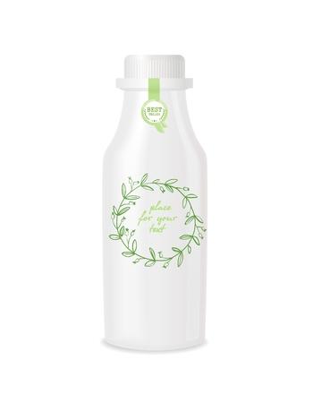 Kunststoff-Flasche mit Design. Standard-Bild - 70772408