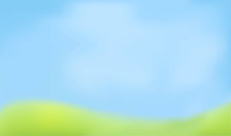 Blured abstract background. Green and blue colors. Looks like defocused sky and meadow. Vector Stock Illustratie