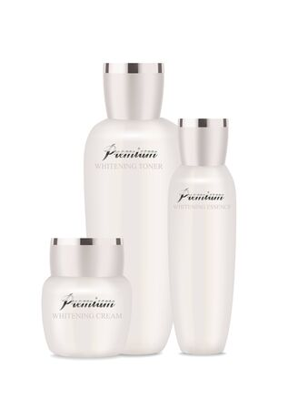 Pearl cosmetic packages for moisturizer, lotion and other. Ilustracja
