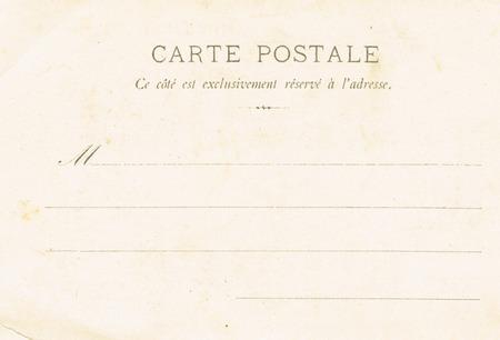 twentieth: The reverse side of postcards of the early twentieth century. Vintage postcard.