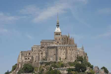 manche: Mont Saint Michel (France) Shooting in summer 2014. Normandy, Department Manche, France.