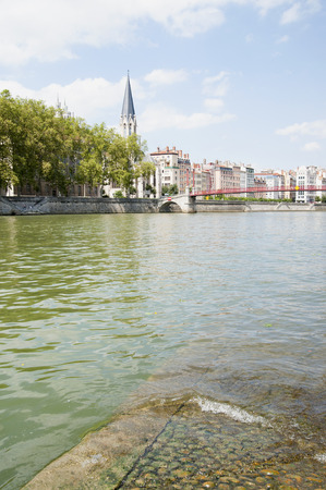 lyon:  View of the embankment of Lyon.