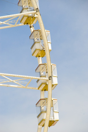 escapement: A fragment of the Ferris wheel. Filmed on the island of Jersey in the summer of 2008 Stock Photo