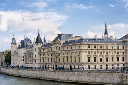 municipal court: FRANCE, PARIS - JULY 30, 2014: Conciergerie. On the banks of the Seine River. Part of the complex of the Palace of Justice. Stock Photo