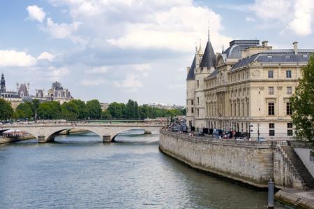 prosecutors: FRANCE, PARIS - JULY 30, 2014: Conciergerie. Located on the Ile de la Cité. Part of the complex of the Palace of Justice.
