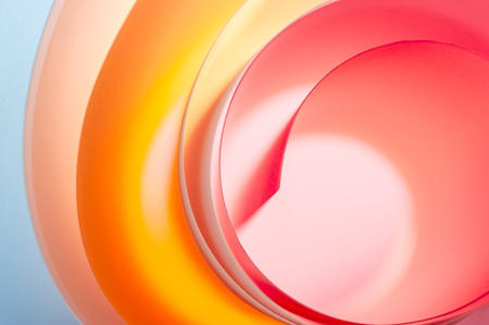 Abstract background from multi-colored elements with a gradient in cartoon style.