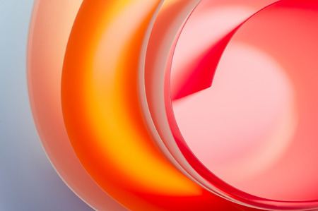 Background of multicolored rounded elements close-up.