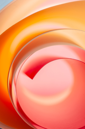 Background of multicolored rounded elements in pink and orange colors.