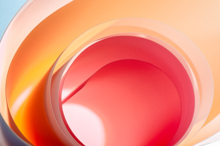 Background from multicolored half-round elements with a gradient close-up. Stockfoto