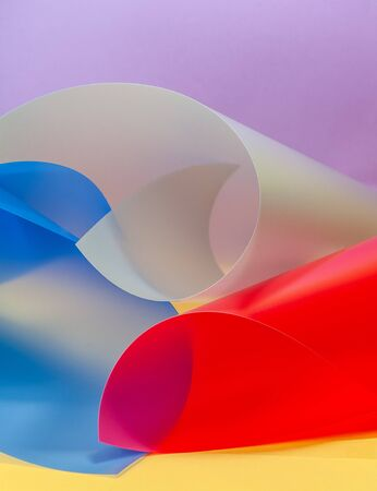 Background image of various plastic textures.