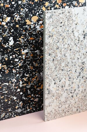 The texture of Terrazio in different colors is light and dark.