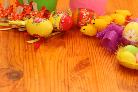 background on an easter subject from eggs, chickens, hens, tapes