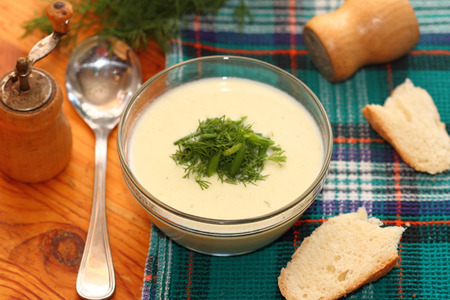 french cuisine: potato cream soup of French cuisine