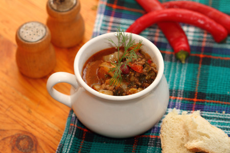 ragout: meat Chile ragout with addition of a Chinese cabbage