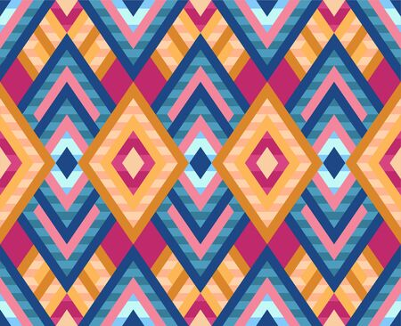 Seamless pattern of rhombuses in native american style.