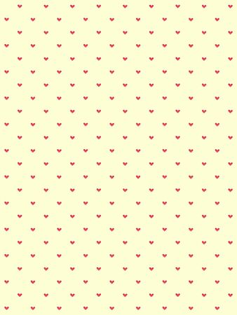 Seamless pattern with hearts in romantic vintage style. Stockfoto