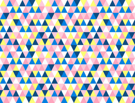 Chaotic seamless pattern of multicolored reticulate triangles.