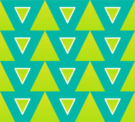 A seamless pattern of stripes and triangles of different sizes