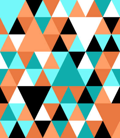 Chaotic seamless pattern of multicolored reticulate triangles. 向量圖像