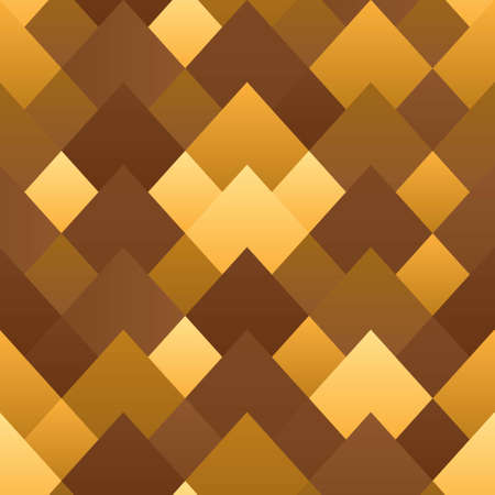 Geometric abstract seamless pattern with gold gradient. Diamond pattern, scaly ornament. Stock vector illustration for the web and print, textile, scrapbooking, wallpaper and background