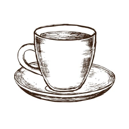 Hand drawn coffee icon.