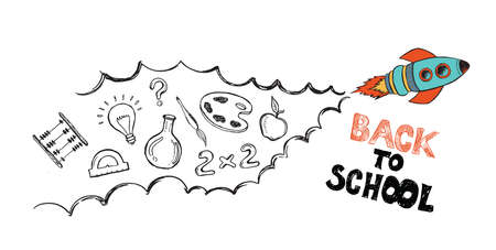 Back to school hand drawn illustration