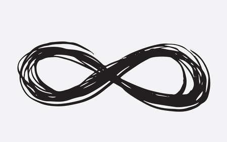 Infinity sign hand drawn illustration  イラスト・ベクター素材