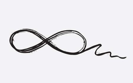 Infinity set hand drawn illustration