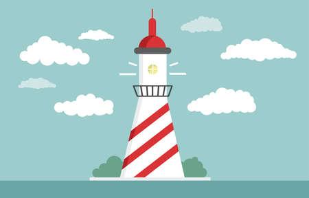 Lighthouse Flat design illustration.