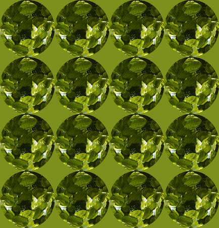 Simple green abstract background with gemstones. Seamless pattern, textured strokes. Design for backgrounds, wallpapers, covers and packaging, wrapping paper. 免版税图像